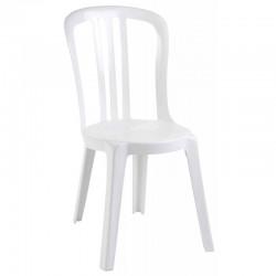 Chaise miami plastique blanche