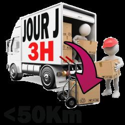 Livraison -50km - JOUR J. 3H
